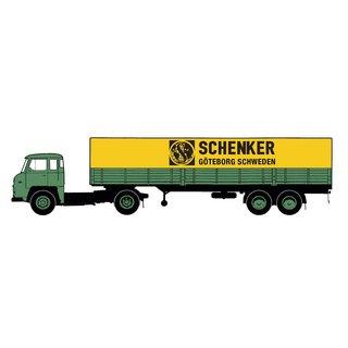 Brekina 85181-1//87 Scania Lbs 76 Pritsche//Plane-Sattelzug Neu Bilspedition
