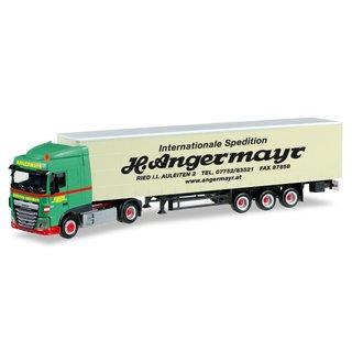 """Volvo FH Rundmulden-Sattelzug grün-orange /"""" Max Wild /"""" 1:87 NEU Herpa 308977"""