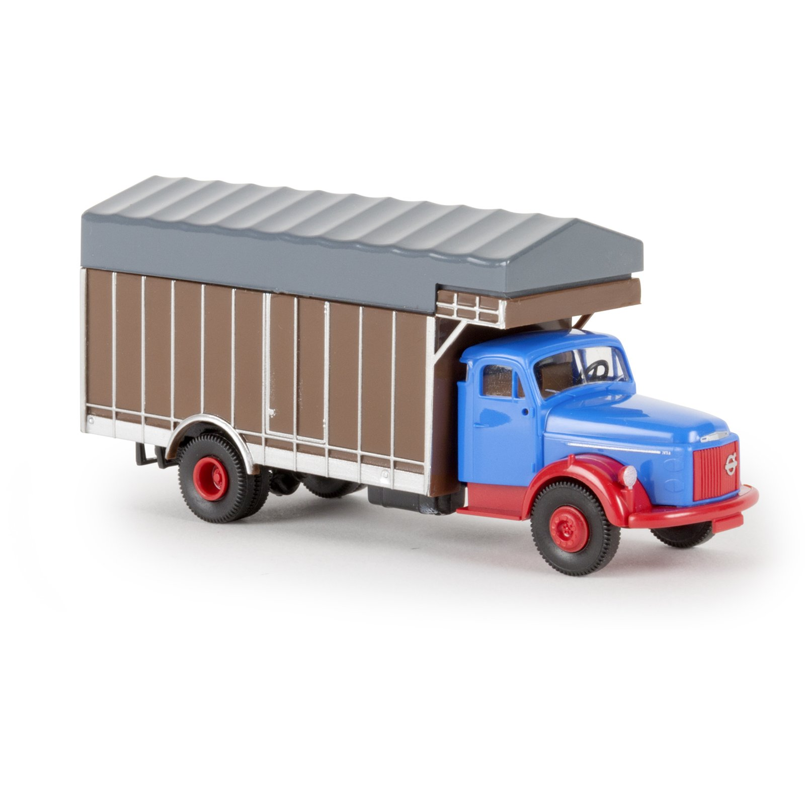 brekina 85619 volvo n 88 mit gro raumaufbau blau ma stab. Black Bedroom Furniture Sets. Home Design Ideas