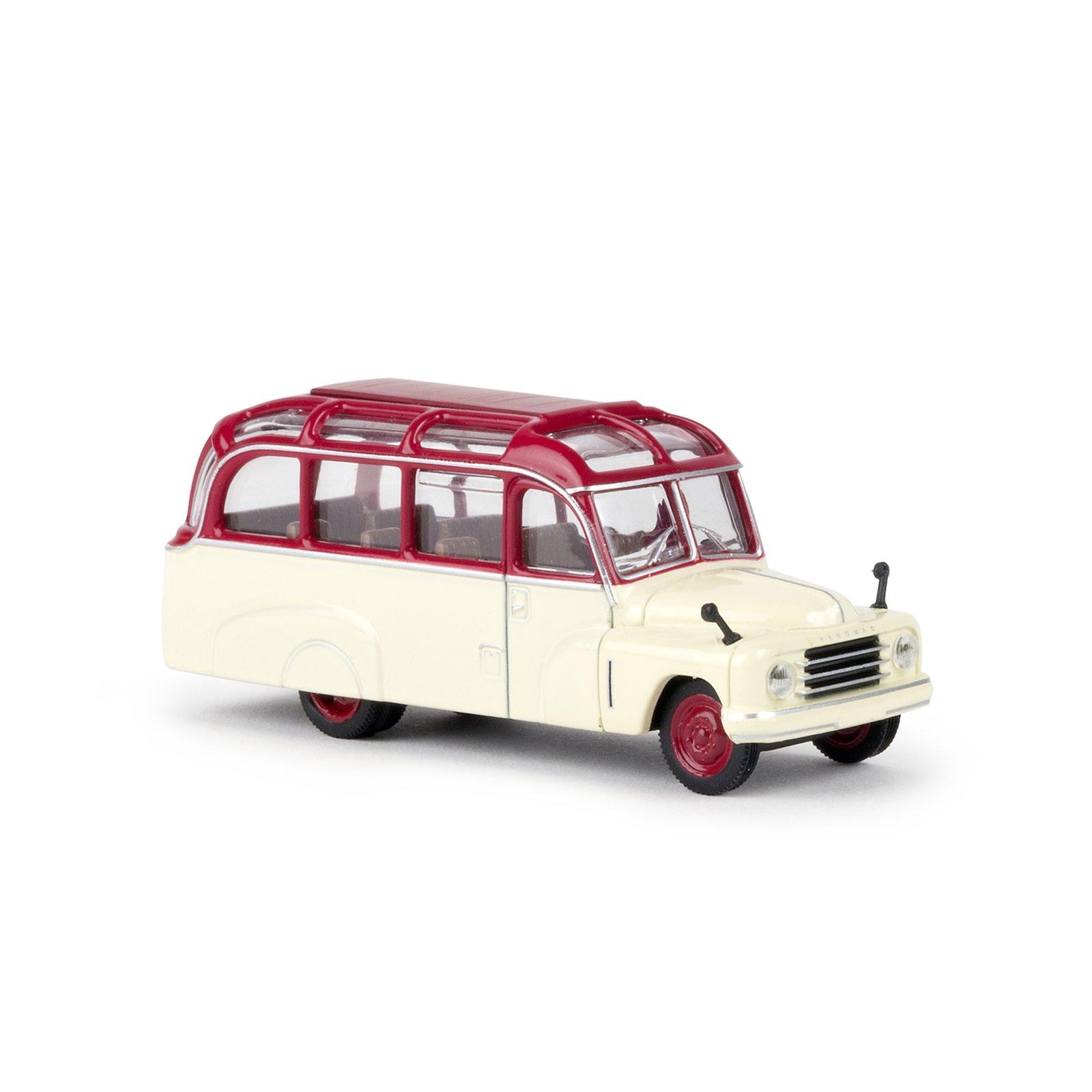 brekina 58180 hanomag l 28 lohner bus rot elfenbein. Black Bedroom Furniture Sets. Home Design Ideas
