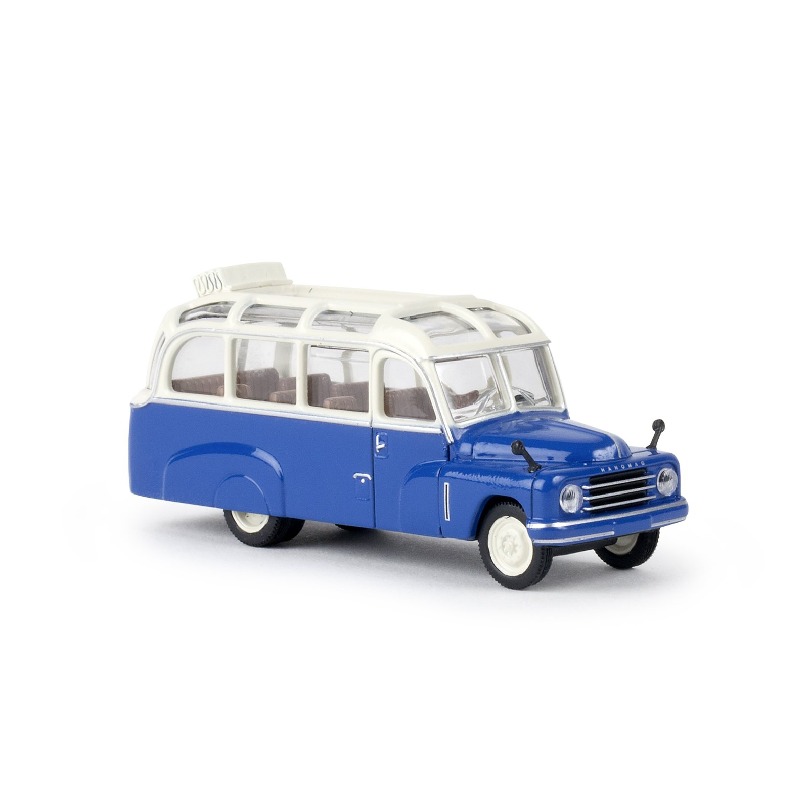 brekina 58181 hanomag l 28 lohner bus weiss enzianblau. Black Bedroom Furniture Sets. Home Design Ideas