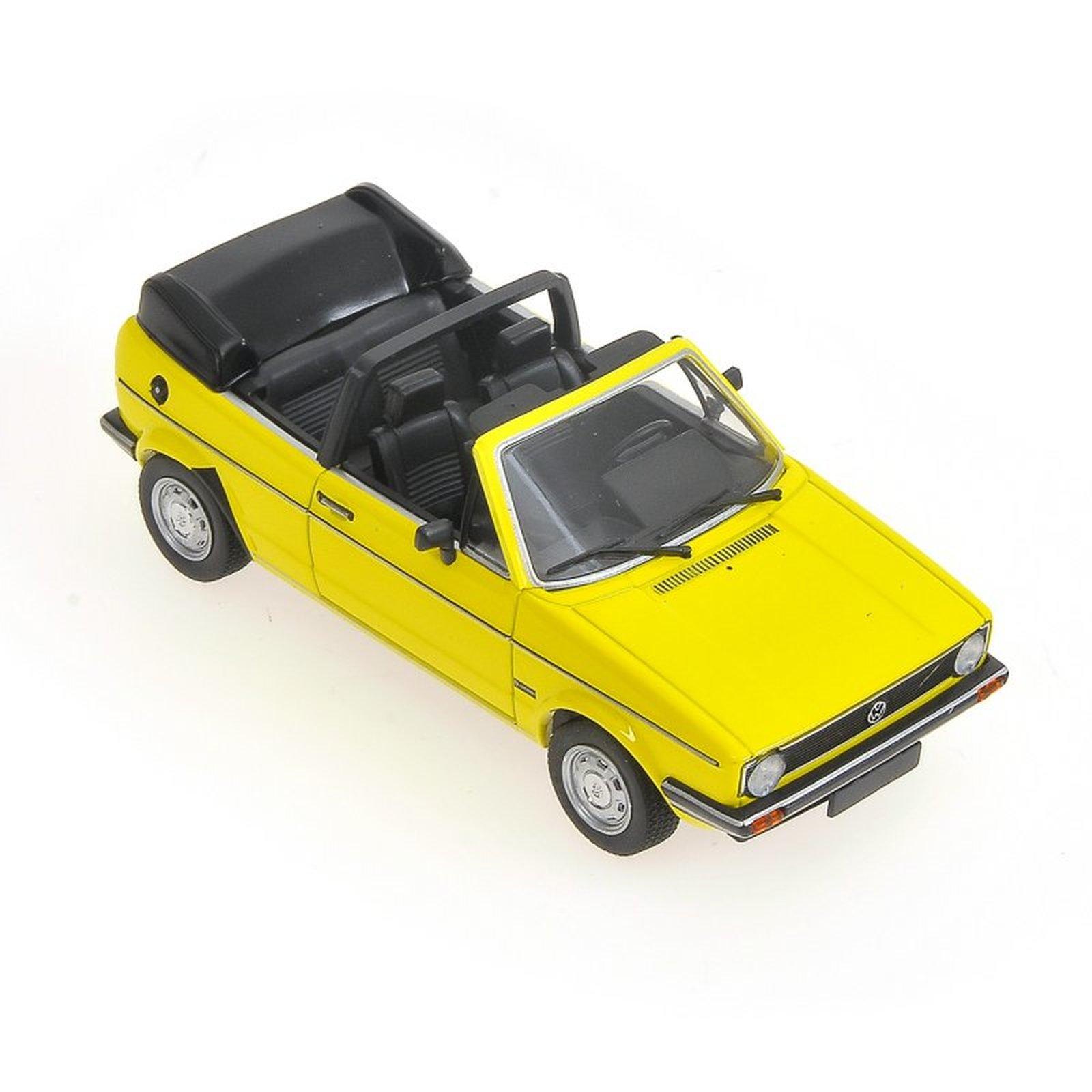 minichamps 400055130 vw golf cabrio gelb 1980 massstab. Black Bedroom Furniture Sets. Home Design Ideas