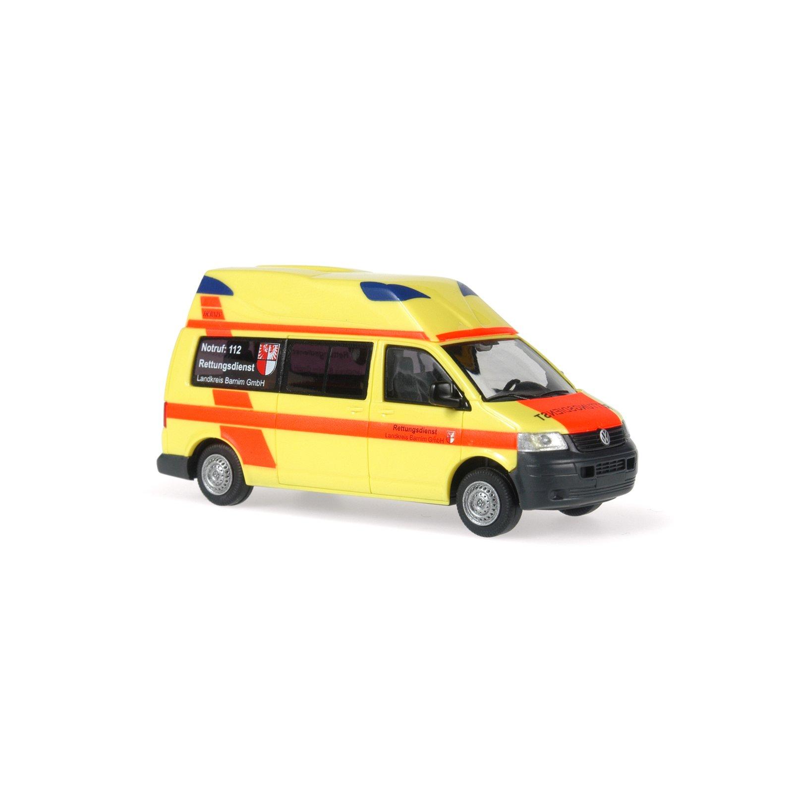 rietze 51802 vw t5 ambulanz mobile hornis silver massstab h0. Black Bedroom Furniture Sets. Home Design Ideas