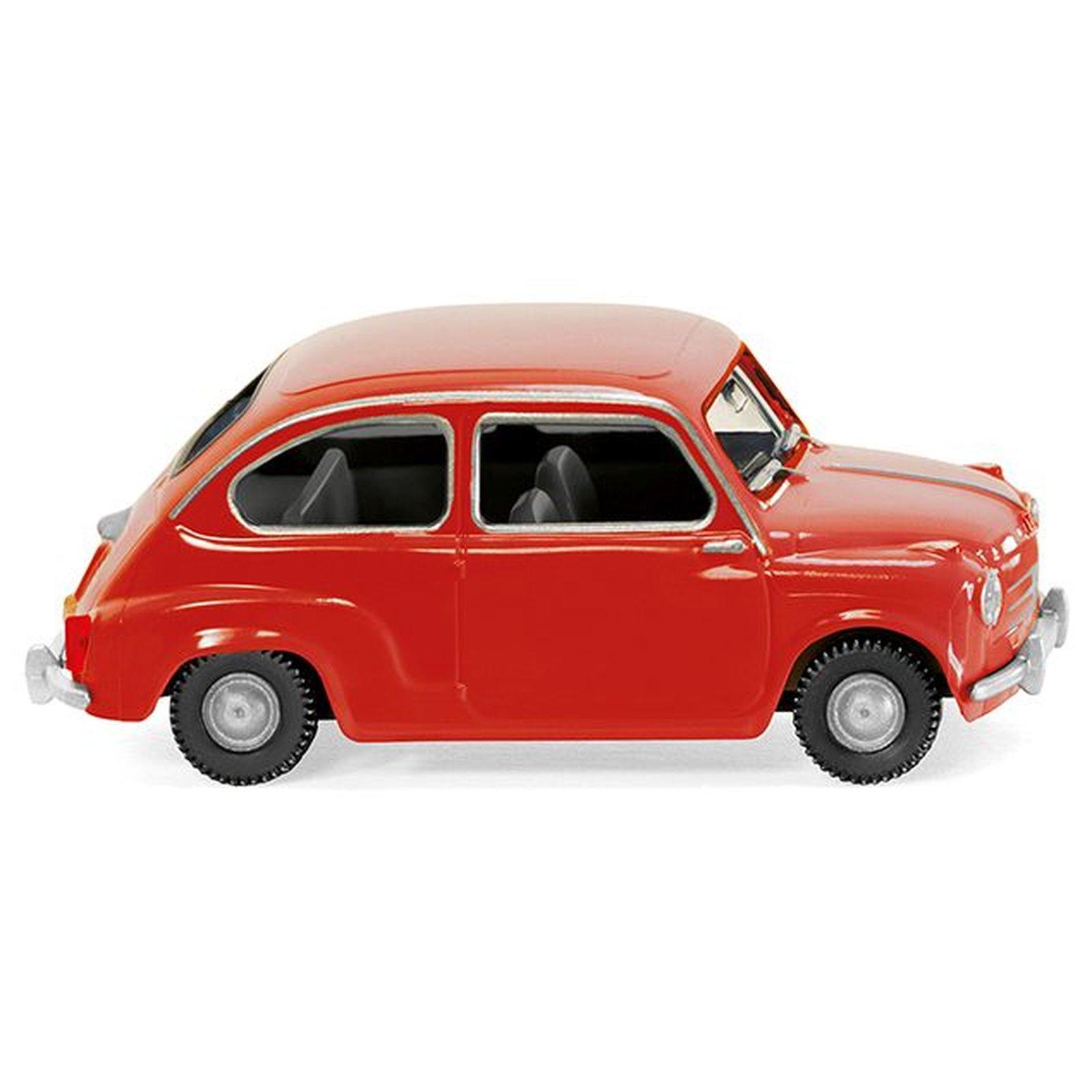 Fiat 600 rot WIKING 009904// 0099 04 H0, 1:87 NEUWARE