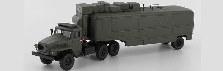 RK-Modelle� 208710-C URAL 4320 SIMEZH-Raketen