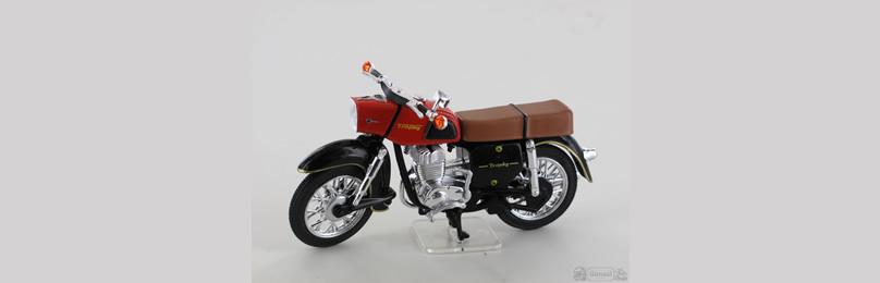 IXO 24105 Motorrad MZ ES 250-2, dunkelrot Maß