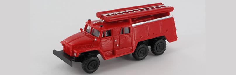 RK-Modelle® TT0056-C URAL 375D TLF-Feuerwehr